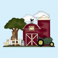 kleurplaat boerderij