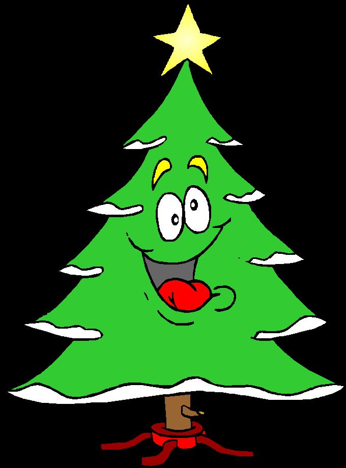 Kleurplaat kerstbomen