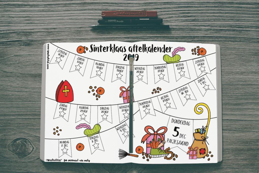 Afbeelding van de Sinterklaas aftelkalender